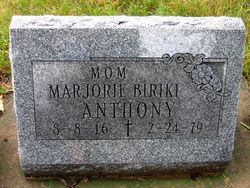 Marjorie <I>Biriki</I> Anthony