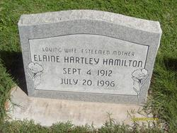 Elaine <I>Hartley</I> Hamilton