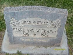 Pearl Anna <I>Walker</I> Chaney