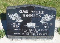 Cleon <I>Wheeler</I> Johnson