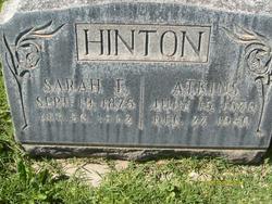 Sarah Elzira <I>Sanders</I> Hinton