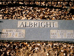 Mary Ann <I>Freeze</I> Albright