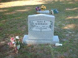 Alice B Ackerman