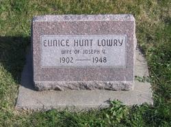 Eunice <I>Hunt</I> Lowry