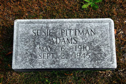 Susie <I>Pittman</I> Adams