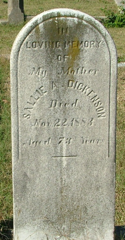 Sallie Ann <I>Johnson</I> Dickenson