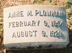 Anne <I>Montgomery</I> Plowman