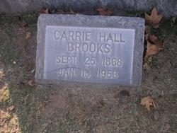 Carrie <I>Hall</I> Brooks