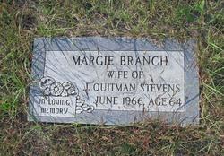 """Margaret Leila """"Margie"""" <I>Branch</I> Stevens"""