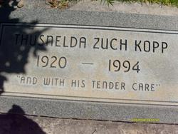 Thusnelda Louise <I>Zuch</I> Kopp
