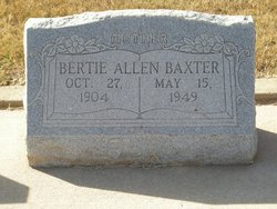 Bertie Snow <I>Allen</I> Baxter