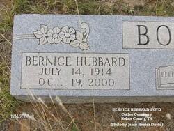 Bertie Bernice <I>Hubbard</I> Boyd