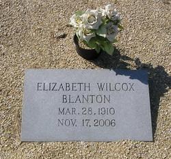"""Elizabeth """"Bess"""" <I>Wilcox</I> Blanton"""