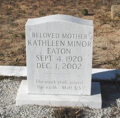 Kathleen <I>Minor</I> Eaton