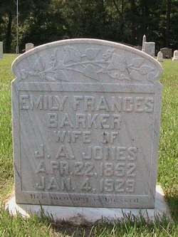 Emily Frances <I>Barker</I> Jones