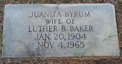 Juanita <I>Byrum</I> Baker