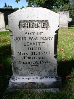 """Frederick Everett """"Fred"""" Leavitt"""