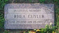 Rhea May <I>Walker</I> Cuyler