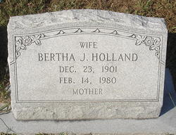 Bertha <I>Jackson</I> Holland