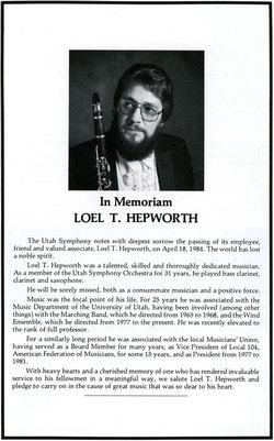Loel Thomas Hepworth