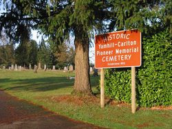 Yamhill Carlton Pioneer Memorial Cemetery