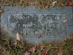 Bessie Elizabeth <I>Williamson</I> Hewett