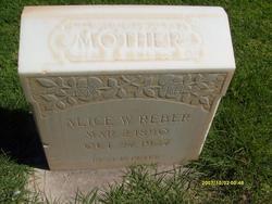 Alice <I>Wittwer</I> Reber