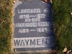 Sarah Naomi <I>Hodson</I> Wayment
