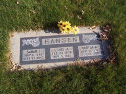 Martha Ann <I>Wayment</I> Hansen