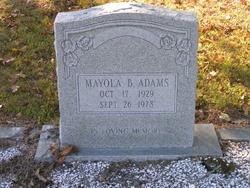 Mayola B. Adams
