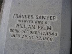 "Frances Sawyer ""Fanny"" <I>Newman</I> Helm"
