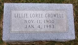 Lillie Loree <I>Keith</I> Crowell