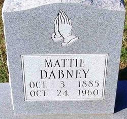 Mattie May <I>Cox</I> Dabney