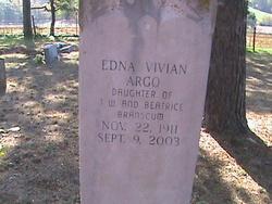 Edna Vivian <I>Branscum</I> Argo
