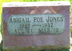 Abigail <I>Poe</I> Jones