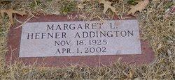"Margaret Louise ""Marge"" <I>Hefner</I> Addington"
