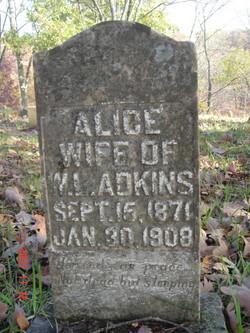 Alice <I>Egnor</I> Adkins