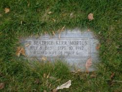 Dr Beatrice Kerr Morton