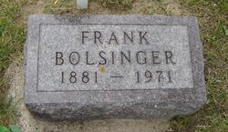 """Joseph Franklin """"Frank"""" Bolsinger"""