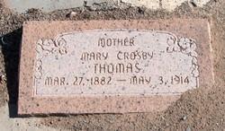 Mary Ann <I>Crosby</I> Thomas