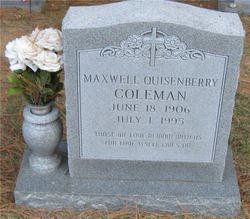 Maxwell Quisenberry Coleman