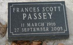 Frances <I>Scott</I> Passey