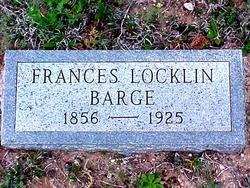 Frances Ann <I>Locklin</I> Barge