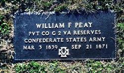 Pvt William F. Peay