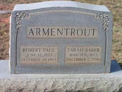 Sarah <I>Baker</I> Armentrout
