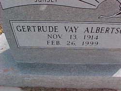 Gertrude Vay Albertson
