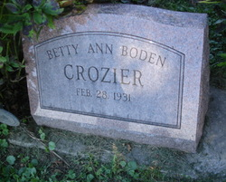 Betty Ann <I>Boden</I> Crozier