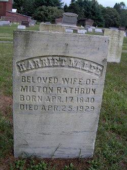 Harriet M. <I>Lee</I> Rathbun