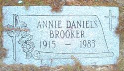 Annie <I>Daniels</I> Brooker