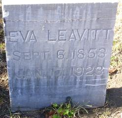 "Evaline W. ""Eva"" <I>Johnston</I> Leavitt"